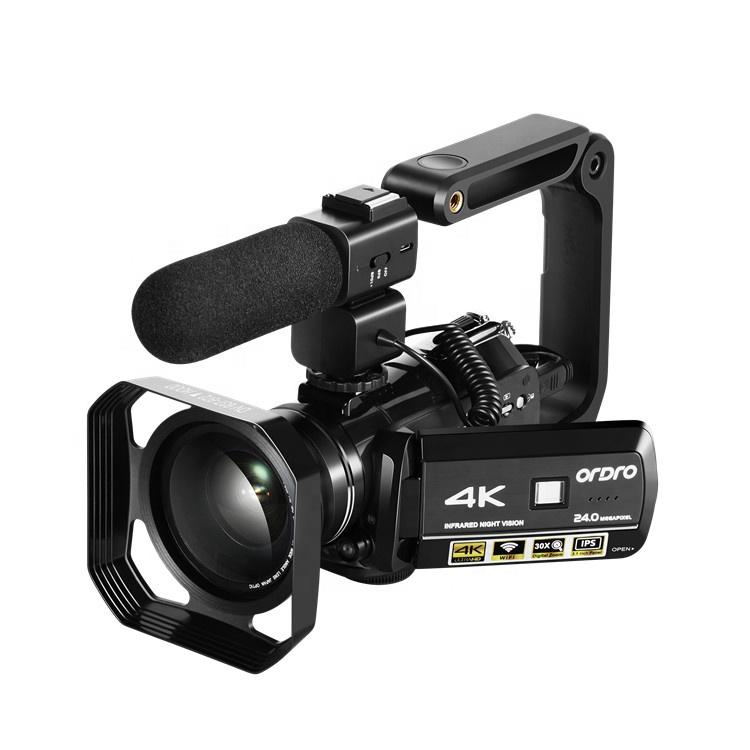Ordro AC3 Infrared Night Vision Camera 4K Digital Zoom Video Recorder Professional Handheld Camcorder 4K Video Camera фото
