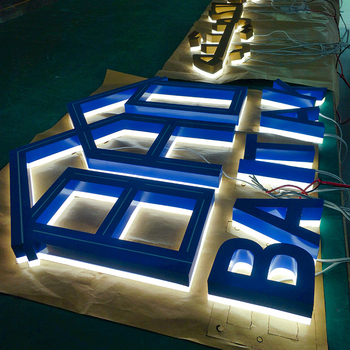Waterproof Shop Led Glow Sign Board For Advertising
