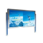 Backlit scrolling system for advertising light box outdoor sign