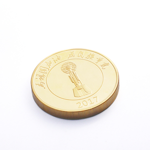 wholesale gold plated tungsten coin custom metal souvenir gold coin