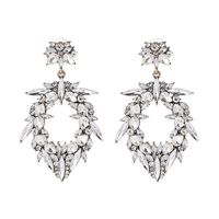 New Arrival Alloy Earrings Rhinestone Crystal Earrings, Unique crystal Wedding Earrings