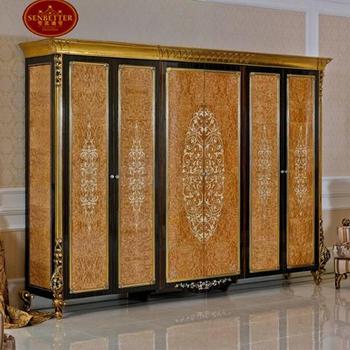 0061 Arabic Luxury Veneer Bedroom Wardrobe Cabinet Furniture Design Solid Wood Clothes Closet View Arabic Bedroom Wardrobe Cabinet Senbetter