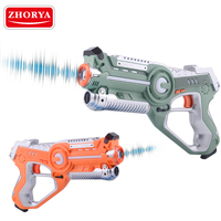 Zhorya 4 Pieces Infrared laser guns set shocking laser tag game for sale