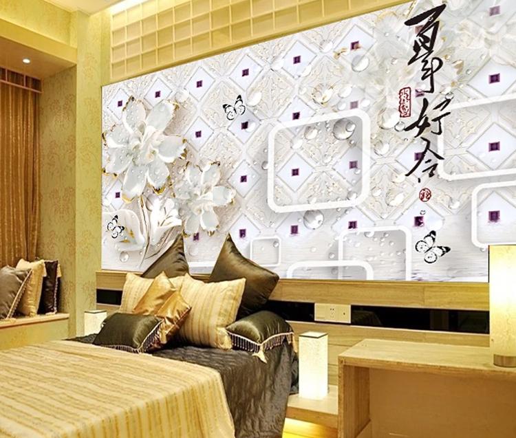 3d Kertas Dinding Wallpaper Jade Desain Harga 3d Wallpaper Dinding