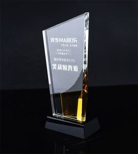 Wholesale business crystal shield award trophy memento custom made