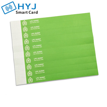 Customized inkjet Printing Wrist band Tag Disposable waterproof Tyvek Paper Wristbands