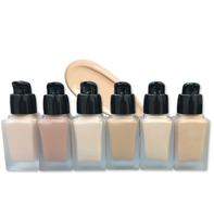 2019 New arrival glass square bottle matte foundation soft wear bb glow cream full coverage foundation for dark skin