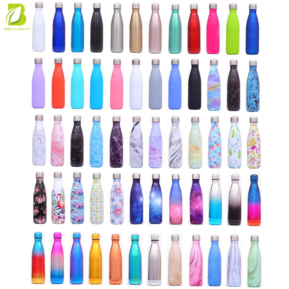 Beauchy 17oz Double Wall Vacuum Insulated Stainless Steel Water Bottle