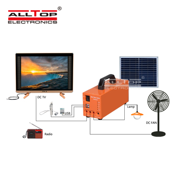 ALLTOP Cheap price portable home appliances 20w 30w 50w solar energy system