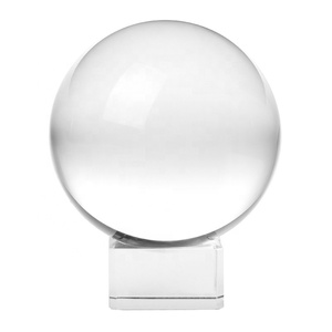 Wholesale and retail personalized 80mm k9 glass clear crystal ball with stand