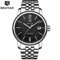 BENYAR Top Brand Luxury Mens Watches Business Full steel Fashion Casual Waterproof Automatic Watch Men's Clock BY-5144