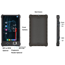 Android 3G 4G WIFI GPS NFC RFID 8 pulgadas pantalla full hd rugged tablet pc con lector de huellas digitales