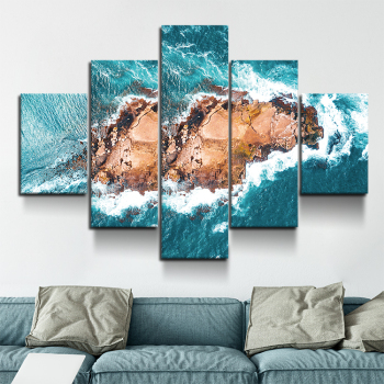 5-plate micro-jet printing spray reef stretching home and office decoration Ocean Home Wall Decor Art Canvas