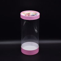Eastbox.Custom transparent round cylinder clear PVC plastic gift packaging boxes