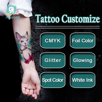 Designing For Free OEM Metallic Tattoo Customize Manufacturer,Custom Waterpoof Body Logo Temporary Tattoo