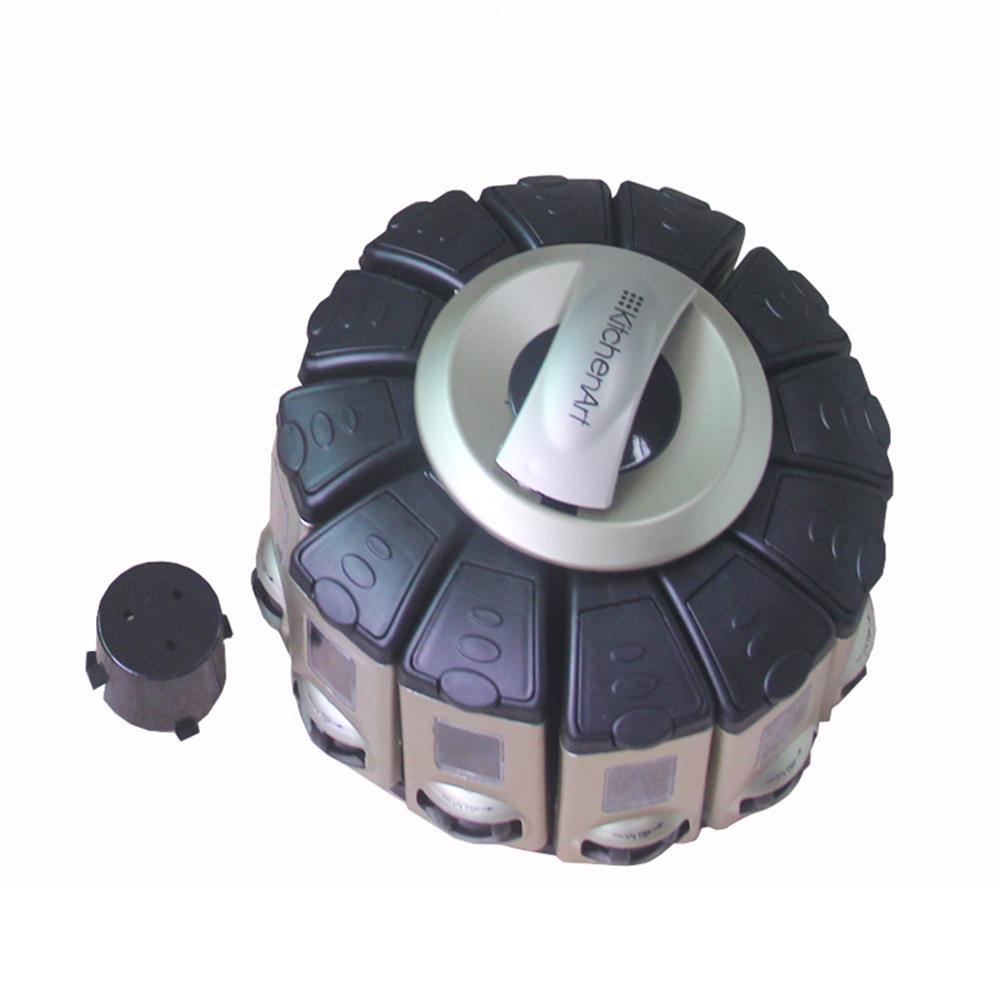 Multi-function Portability Auto-measure Carousel Plastic Spice Box фото