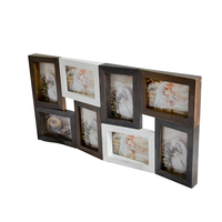 High quality Wooden Collage Wall decoration Hanging Picture Frame/photo frame with 8 openings