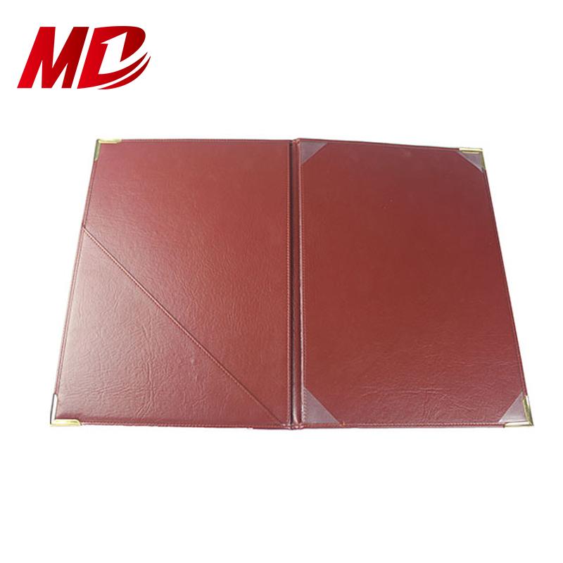 Wholesale PU Folder Custom certificate Cover with gold logo