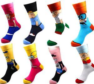 High quality funny novelty crew men comics sublimation cool cartoon socks  wholesale