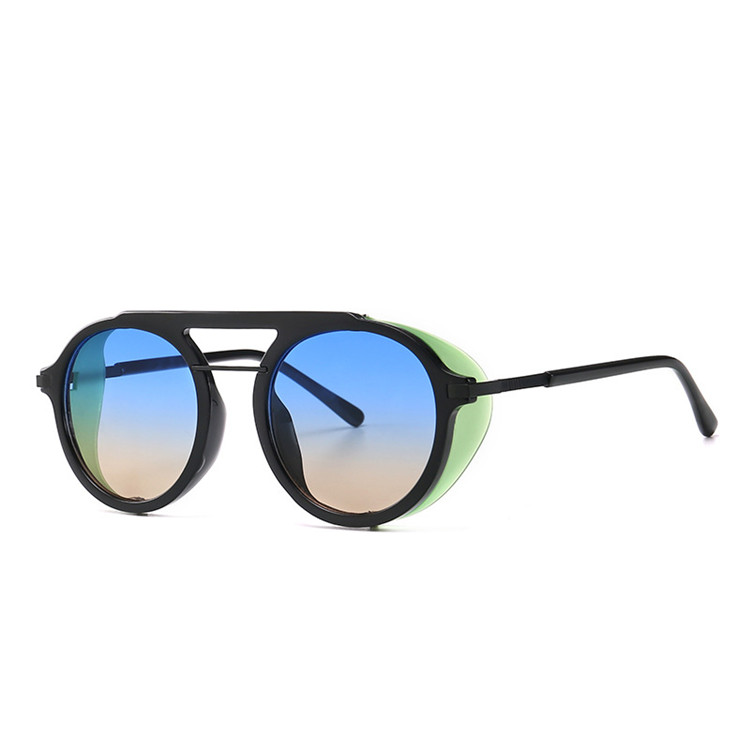 Alibaba.com / Vintage Top-rated gradient lens women Glass,round steampunk fashion designer sunglasses men