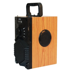 10W wooden portable bass caixa de som bluetooth speaker