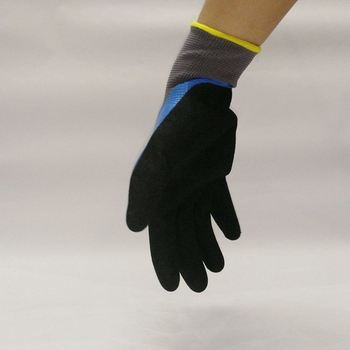 Cheap Price Anti Oil &Gas 13G Polyester Liner Nitrile Dipped Gloves