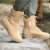 2019 Waterproof Cow Suede Leather Boot Military Boot Anti-slip Rubber Boot With Side Zipper