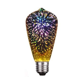 3D Firework LED bulb light starry sky for holiday party wedding gorgeous 3D decoration polychromatic bulb light