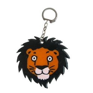 Custom Promotional Cartoon Tiger PVC Keychain Reflective Safety Hanger