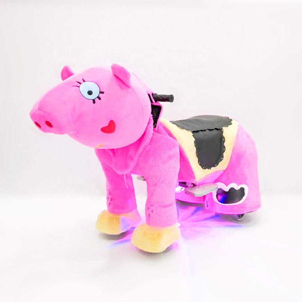 Coin Operated Stuffed <strong>Animal</strong> Ride <strong>Electric</strong> Pig Walking Rides