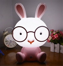 Top sale bunny konijn night lamp romantische nacht lamp smart touch led night lamp voor kid