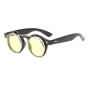retro Fashion popular trendy plastic frame frames flip up sun glasses