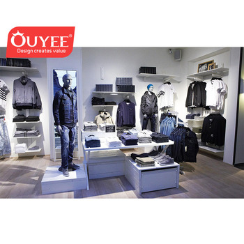 Modern Style Clothing Display Cabinet Retail Clothes Shop Decoration Kiosk  Men Suit Clothing Store Interior Design - Buy Clothes Shop