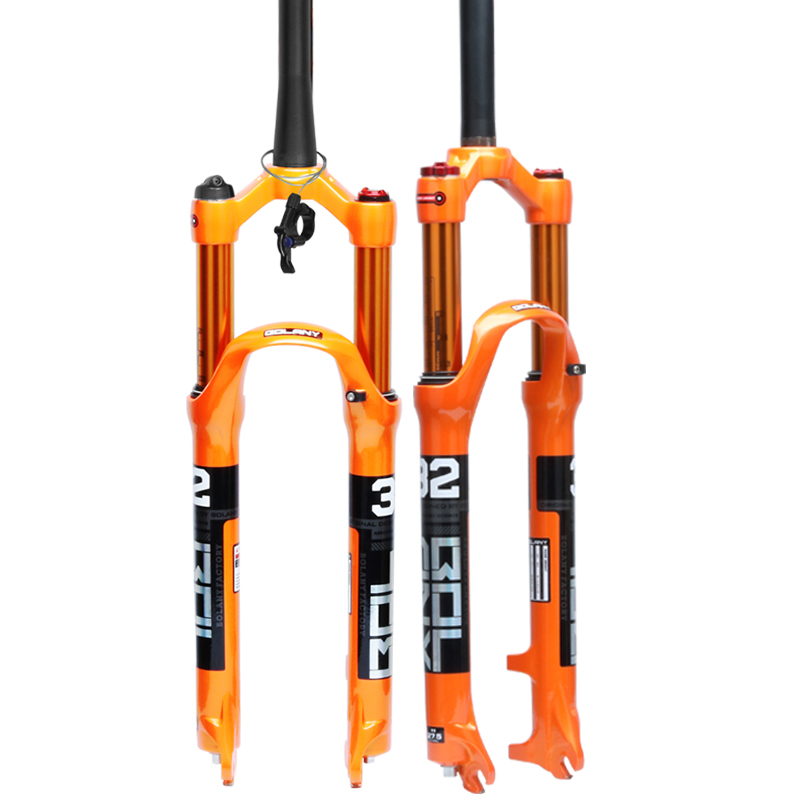 2019 new design aluminum alloy bicycle suspension front fork mtb suspension fork 27.5 фото