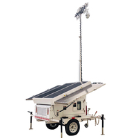 Portable mobile Solar powered with optional backup generator High mast LED flood Light Tower