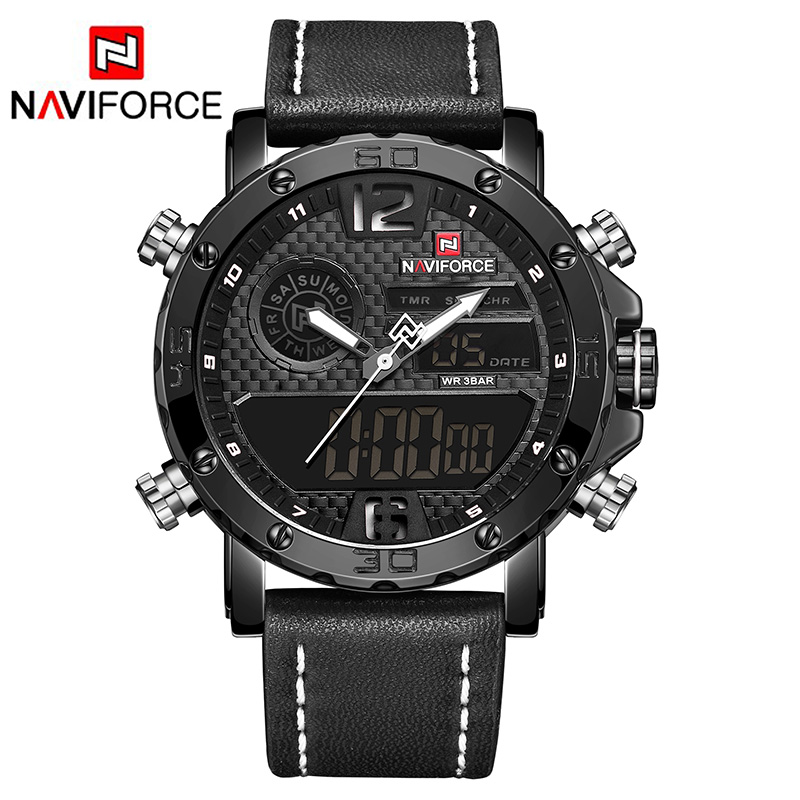 NAVIFORCE 9134 Modern popular men quartz watches with LED display, N/a