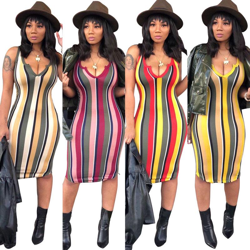 90327-MX31 new summer sleeveless cheap striped dresses for women