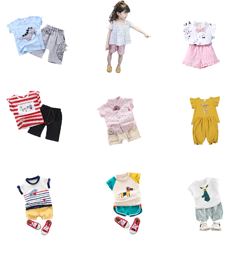 Alibaba.com / Kids clothes girls summer boys china wholesale baby set 2019 korean children fashion cute high quality for 23 years