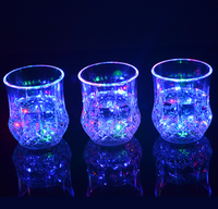 Hot selling Color Change Flash Light LED Beer plastic cup / Party Bar Beer Drinking Led Lighting Cup