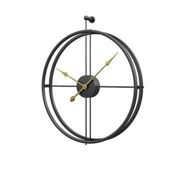 Large Double Hoop Metal Round Fashion Modern Simple Design Wall 3d Clock 60cm