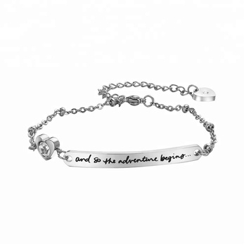 I Love You to the Moon and Back Infinity of Love Engraved Heart Designed Wholesale Jewelry Stainless Steel Bracelet for women