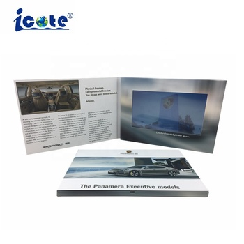 Advertising Campaign Use LCD Screen 7 inch Custom Paper Video Brochure