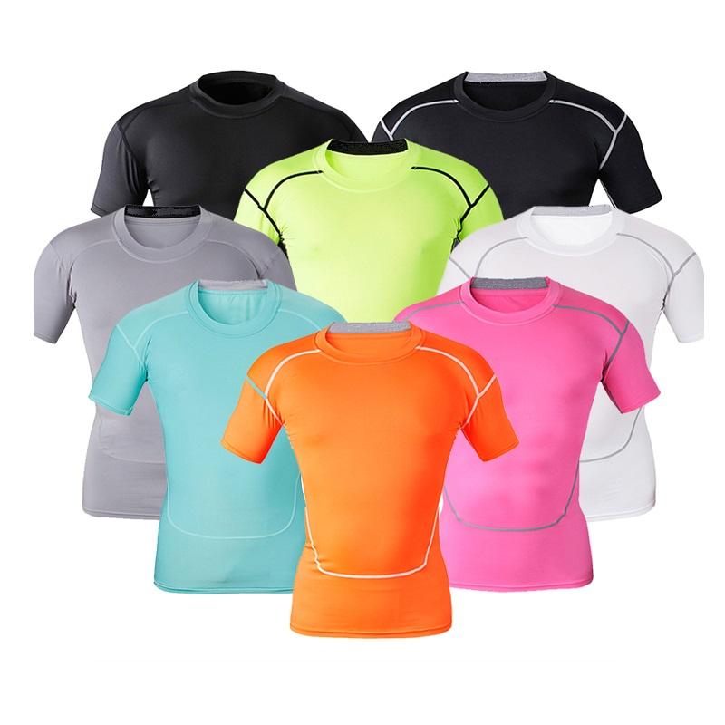 Nuevo modelo de los hombres camiseta pantalones cortos de moda cuello  redondo manga t camisa de c745e5fe68fa