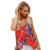 Wholesale  Woman Floral Print Button Down Tank Top