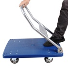 Foldable Platform Trolley Medical Hand Carts Plastic Trolley