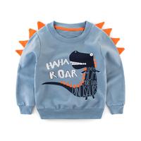 Mudkingdom korean children's cotton animal style O neck sweatshirts