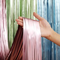 Top Quality Factory direct sales 1*2M Matte light metallic foil fringe curtains for event party supplies
