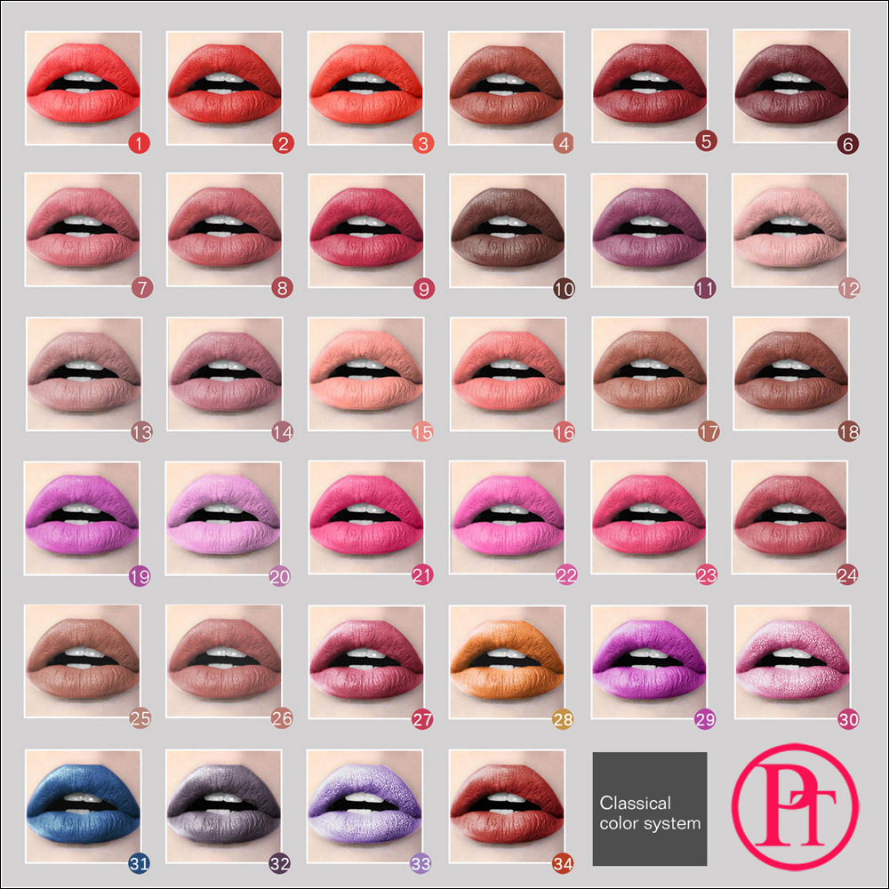 Rendah MOQ Private Label Lipstik 41 Warna 18 Jam Tahan Lama Matte Liquid Lipstik Lip Gloss Private Label