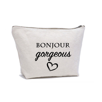Ginzeal Wholesale Blank Canvas Cosmetic Bag Custom Print Cotton Makeup Bag