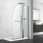 frameless bathtub sliding pivot Manufacturers Price for Frameless Fixed Bath Panels Tub Enclosure Shower Glass